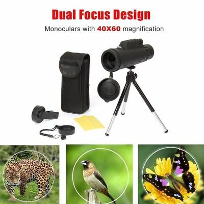40X60 Zoom Optical HD Lens Monocular Telescope+Tripod+Clip For Mobile Cell Phone