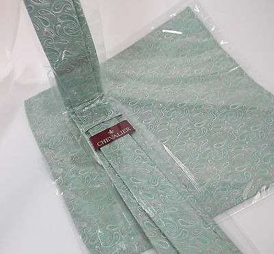 Boys Tie And Scarf New Paisley Mint Green Teal 4t 5t