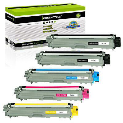 5PK TN221 BK TN225 Color Toner Cartridge Set For Brother MFC-9130CW MFC-9330CDW