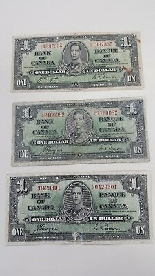 Bank Of Canada 1937-6-$1 Rare  Canadian Bank Note      Selling 1 Note For $25