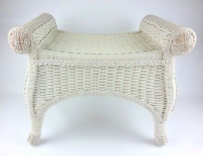 Brilliant Pier 1 One Jamaica Imports Wicker Wood Vanity Desk Stool Caraccident5 Cool Chair Designs And Ideas Caraccident5Info
