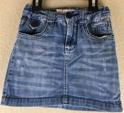 Xhilaration Girls Distressed Denim Skirt Size 4t 100% Cotton