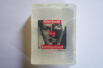 BARBARA KRUGER, Your body is a battleground, soap bar, Whitney Museum