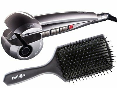 BABYLISS CURL SECRET IONIC C1200E + Hair BrushWOMENS CERAMIC HAIR STYLER CURLER