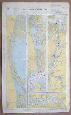 "Vtg 1951 C&GS Nautical CHART #837 INTRACOASTAL WATERWAY SC 24"" x 39.5"""