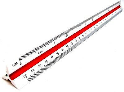 Triangular Scale Ruler Draughtsmens Ruler Scale Rule 1:20 1:25 1:50 1:75 1:000