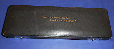 Vintage Brown & Sharpe Padded Box Only