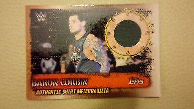 Topps wwe slam attax 10th edition t-shirt memorabilia ts6 Baron Corbin.
