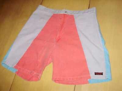 VINTAGE 1980's CALIFORNIA RAINBOW SHORTS 32 SURFING OP STYLE