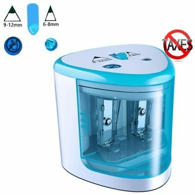 Classroom Electric Pencil Sharpener Battery Operated Desk School Office Portable