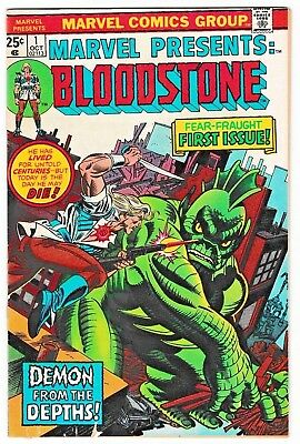 MARVEL PRESENTS #1 (FN) Origin and 1st Appearance of BLOODSTONE! 1975 Bronze-Age