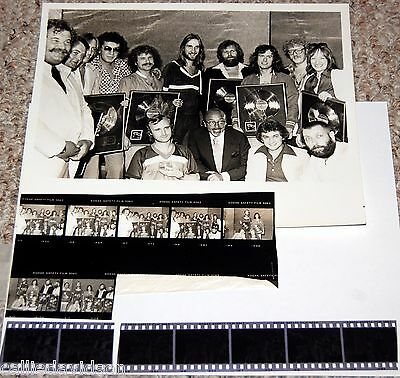GENESIS 1978 MSG NYC After Concert Record Award Photo Negatives Set Phil Collins