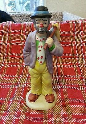 """Emmett Kelly Jr Collection Porcelain Hobo 7.5"""" Tall Exclusively From Flambro"""