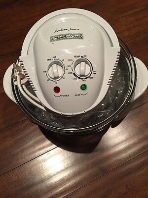 Andrew James 12 LTR Halogen Oven Convection Cooker White 1300 Watts