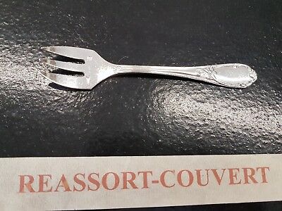 Fork Oyster Frionnet Louis Xv 13.7 Cm Good Condition Silver 0812 17