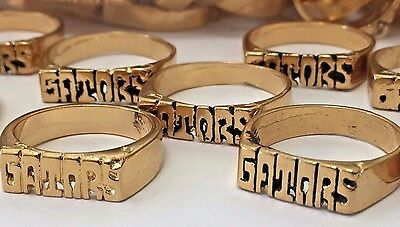 Lot Of 110 NOS Florida Gators Gold Tone Plated Sports Rings About Sizes 5 Thru 8