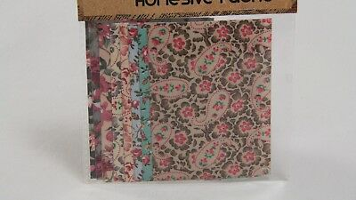 NEW - CRAFT PACK OF 8 - ADHESIVE FABRIC - 9.8cm x 7cm - ASSORTED #2