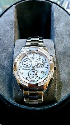 New Ladies Citizen Eco-Drive Diamond Bezel and Mother of Pearl dial FB1220-53D