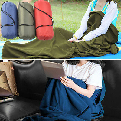 Portable Outdoor Travel Camping Sheet Fleece Sleeping Bag Liner Tent Mat Pad