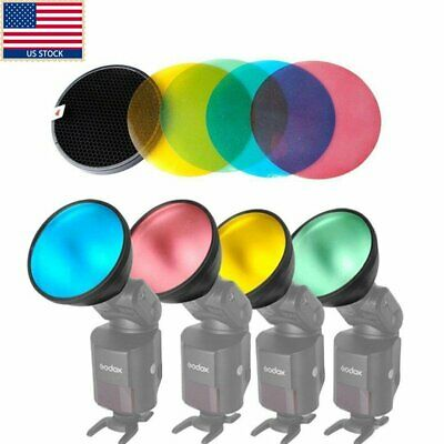 US Godox AD-S11 Color Gel Pack Reflector + Grid f WITSTRO flash AD200 AD360 II
