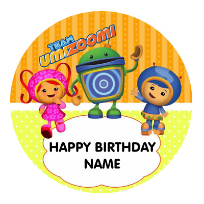 Team Umizoomi Personalised Edible Party Birthday Cake Decoration Topper Image