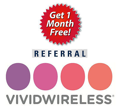 Vivid Wireless Referral Code - 150144 - 1 Month Free + $20 Cash Back!