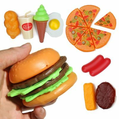 1 Set Of Simulation Food Role Play Pizza Cake Hamburgers Kitchen Play Toys