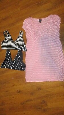 Motherhood Maternity Oh Baby Nursing Bras Nursing Night Gown Medium Large XL