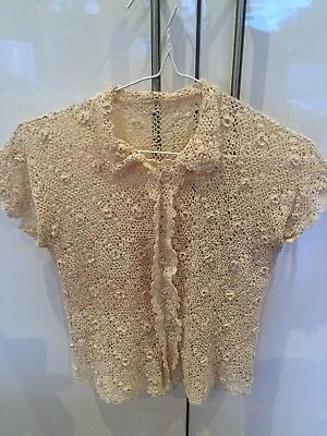 Vintage crochet knit top. Size 8-10