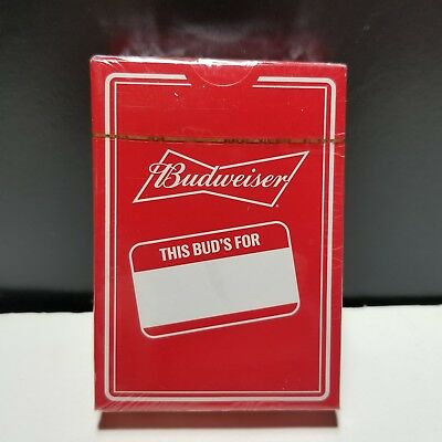 Budweiser Playing Cards This Bud's For You Factory Sealed Deck