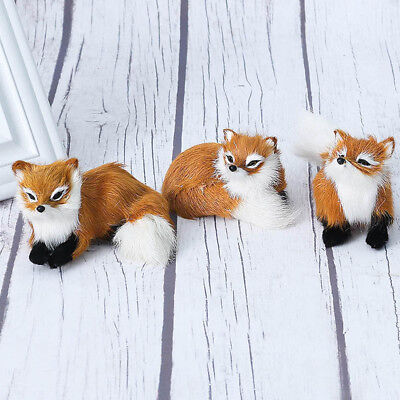 Decoration Brown Simulation Fox Animal Doll Plush Fur Toy Home Decor
