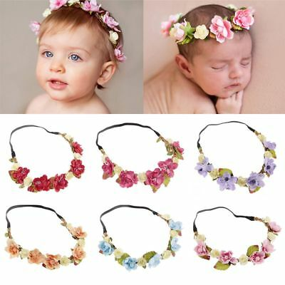Props Beach Floral Leaves Baby Hairband Crown Headband Flower Garland
