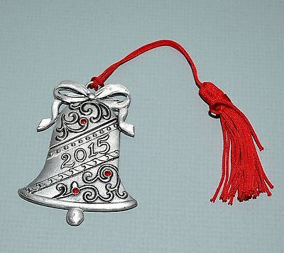 Avon Bell Pewter Ornament 2015 Source Of Fine Collectibles Rhinestones New