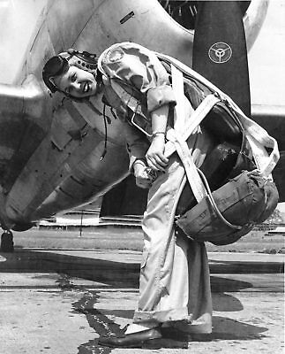 WW2 Photo WWII USAAF WASP Pilot P-47 Thunderbolt 1943  World War Two / 1660