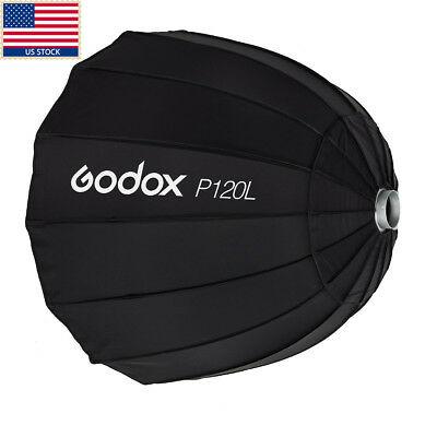 Godox P120L 120CM Deep Parabolic Umbrella Softbox + Bowens Speedring For Flashes