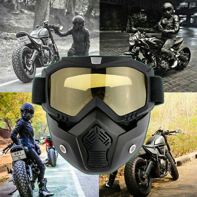 Motorcycle Modular Goggles Riding Goggles Open Face Sun Glasses Mask Detachable
