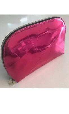 3a4f70d097 YSL Yves Saint Laurent Beaute Pouch Makeup Bag Cosmetic Clutch Metallic PINK