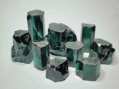 Emerald Green CZ Facet Rough Best Quality Cubic Zirconia 200ct to 750ct Crystals