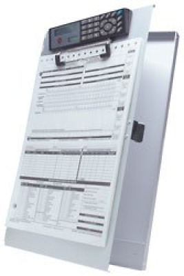 deluxe aluminum clipboard & forms holder with solar calculator