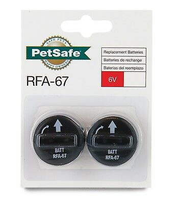 PetSafe - Lot de 2 Piles RFA-67 (6V) Collier de Dressage, Anti-Aboiements Chien