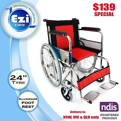Red & black oxford fabric cushion Wheelchair Ezi-Care Age Care Mobility Product