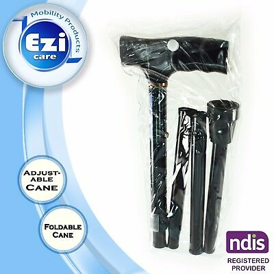 Aluminium Foldable Walking Stick Cane Walking Aid Ezi Care