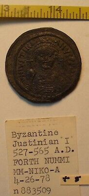 VERY LARGE Byzantine coin 527-565Justinian I check out the excellent condition