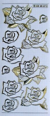 Embossed on Clear 3D Roses PEEL OFF STICKERS Build up 3D Cardmaking
