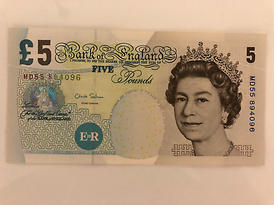 Bank Of England Uk £5 Pound Note **free Express Post**