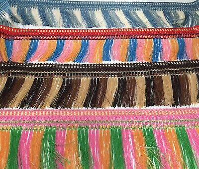 1 Metre Multi Colour Fringing Tassel Trimming, Avalible In 5 Colours