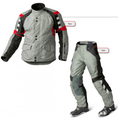 Bmw Rallye 4 Grey/Red 2015 Motorcycle Touring Off Road Textile Suit, All Sizes