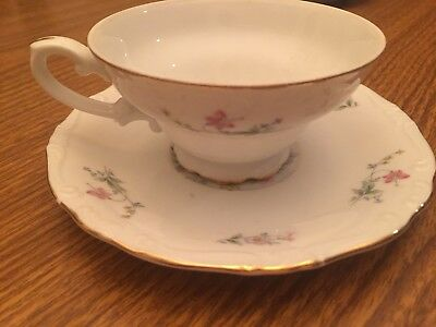YAMAKA Tea Coffee FOOTED CUP AND SAUCER  Springtime pattern 1534