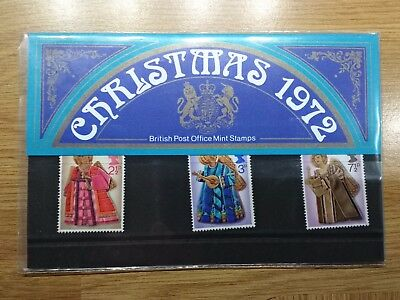British Post Office Mint Stamps Christmas 1972 Pack No.44