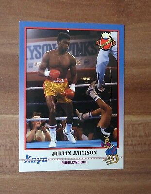 1991 Kayo Card Boxe Boxing # Julian Jackson The Hawk Champion # 212